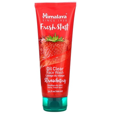 Купить Himalaya Fresh Start, Oil Clear Face Wash, Strawberry, 3.4 fl oz (100 ml)