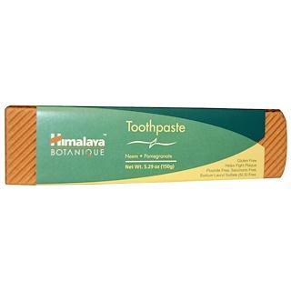 Himalaya, ボタニーク(Botanique), 練り歯磨き, ニーム, ザクロ, フッ化物フリー, 5.29オンス(150 g)