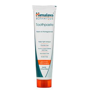 Хималая Хербал Хэлскэр, Botanique, Toothpaste, Neem, Pomegranate, Fluoride Free, 5.29 oz (150 g) отзывы покупателей