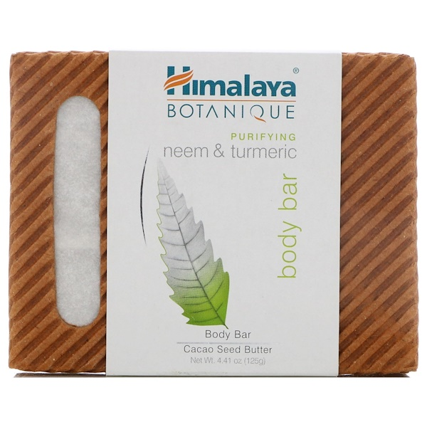 Himalaya, Botanique, Purifying Neem & Turmeric Body Bar, 4.41 oz (125 g)