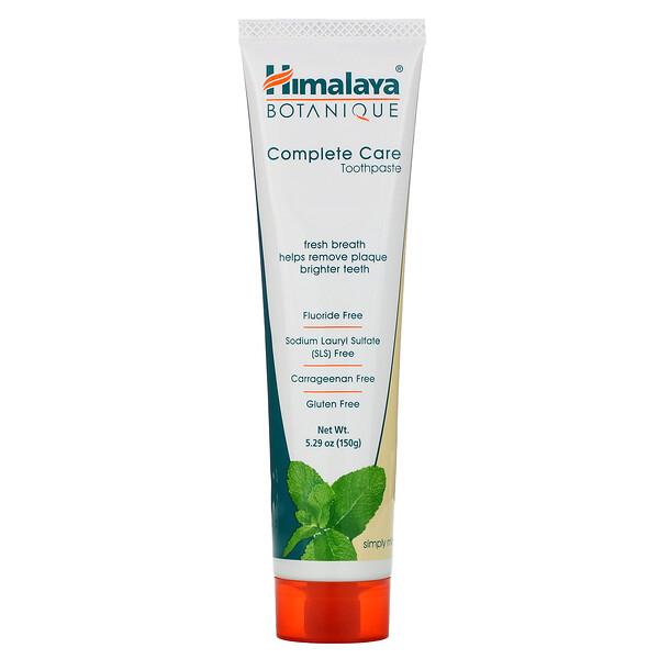 Botanique, Complete Care Toothpaste, Simply Mint, 5.29 oz (150 g)