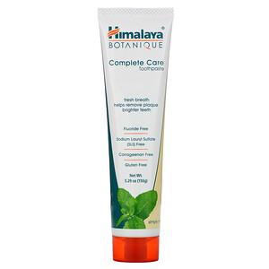 Хималая Хербал Хэлскэр, Botanique, Complete Care Toothpaste, Simply Mint, 5.29 oz (150 g) отзывы покупателей