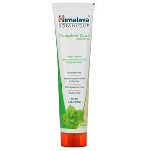 Хималая Хербал Хэлскэр, Botanique, Complete Care Toothpaste, Simply Peppermint, 5.29 oz (150 g) отзывы покупателей