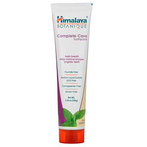 Хималая Хербал Хэлскэр, Botanique, Complete Care Toothpaste, Simply Spearmint, 5.29 oz (150 g) отзывы покупателей