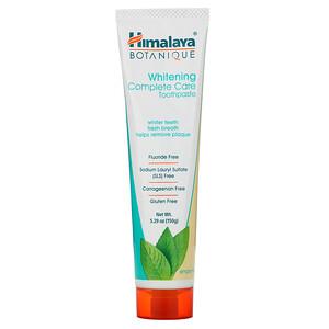Хималая Хербал Хэлскэр, Botanique, Whitening Complete Care Toothpaste, Simply Mint, 5.29 oz (150 g) отзывы покупателей