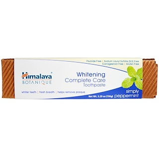 Himalaya, Whitening Complete Care Toothpaste, Simplesmente Menta, 150 g