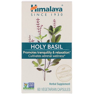 Himalaya, Albahaca Santa, 60 cápsulas vegetarianas