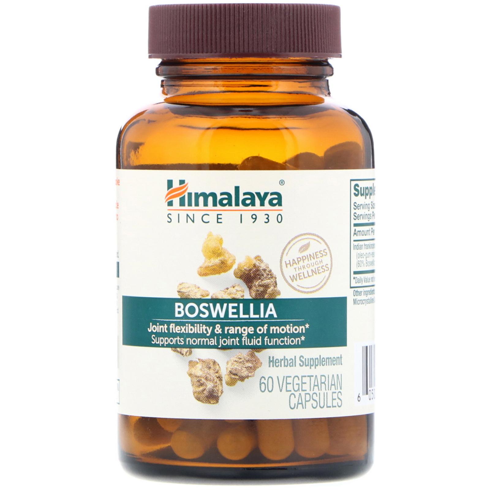 Himalaya, Boswellia, 60 Vegetarian Capsules - iHerb com