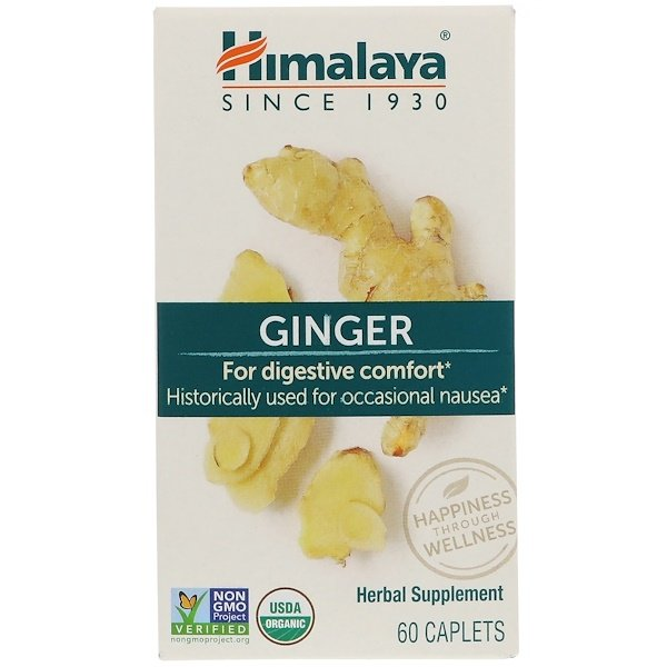 Himalaya, Ginger, 60 Caplets (Discontinued Item)