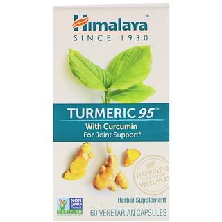 Himalaya, Turmeric 95 with Curcumin, 60 Vegetarian Capsules