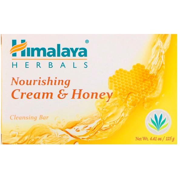 Himalaya, Питающее очищающее кусковое мыло, сливки и мед, 125 г