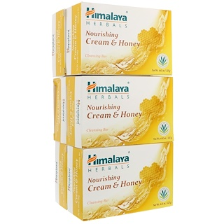 Himalaya, Cream & Honey Nourishing Cleansing Bar, 6 Bars, 4.41 oz (125 g) Each