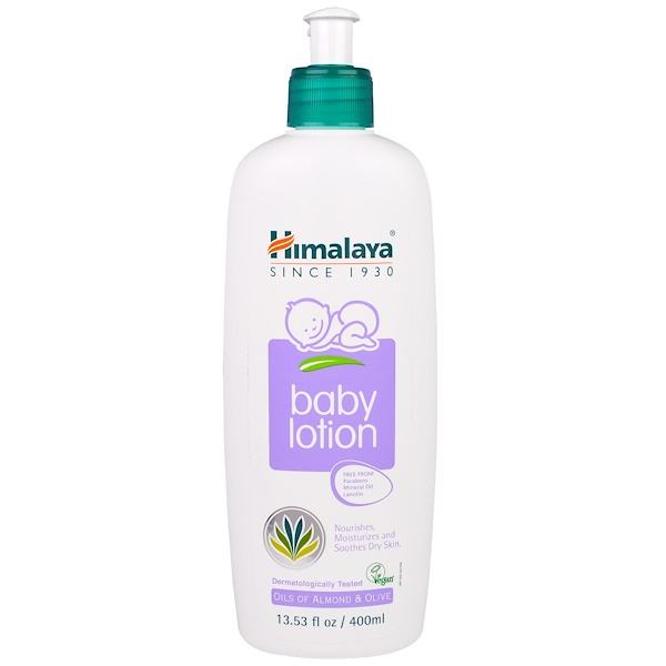 Himalaya, Baby Lotion, Oils of Almond & Olive, 13.53 fl oz (400 ml)