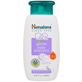 Himalaya, Gentle Baby Shampoo, Hibiscus and Chickpea, 6.76 fl oz (200 ml)