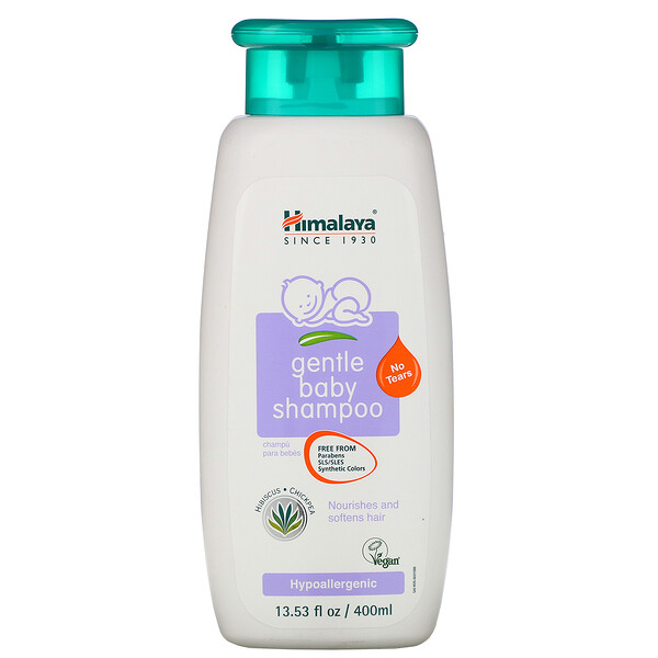 Himalaya, Gentle Baby Shampoo, Hibiscus and Chickpea, 13.53 fl oz (400 ml)
