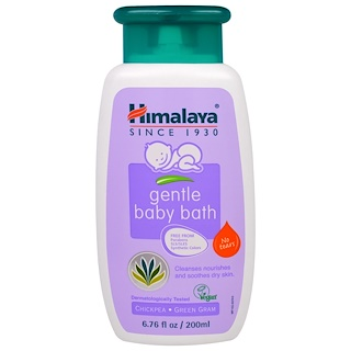 Himalaya, Gentle Baby Bath, Chickpea and Green Gram, 6.76 fl oz (200 ml)