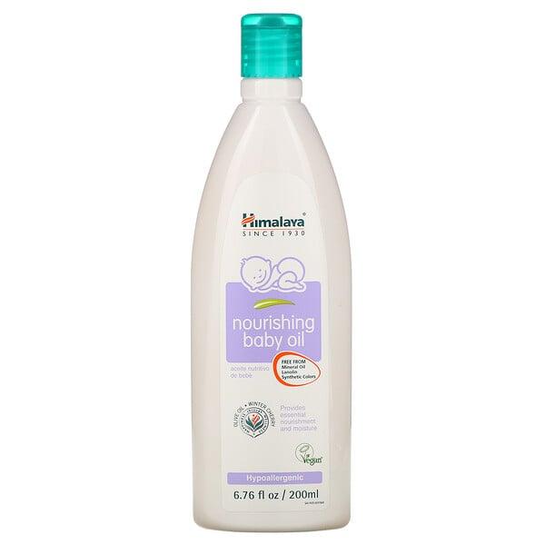 Himalaya, Aceite nutritivo para bebés, aceite de oliva y cereza de invierno, 6,76 onzas fluidas (200 ml)