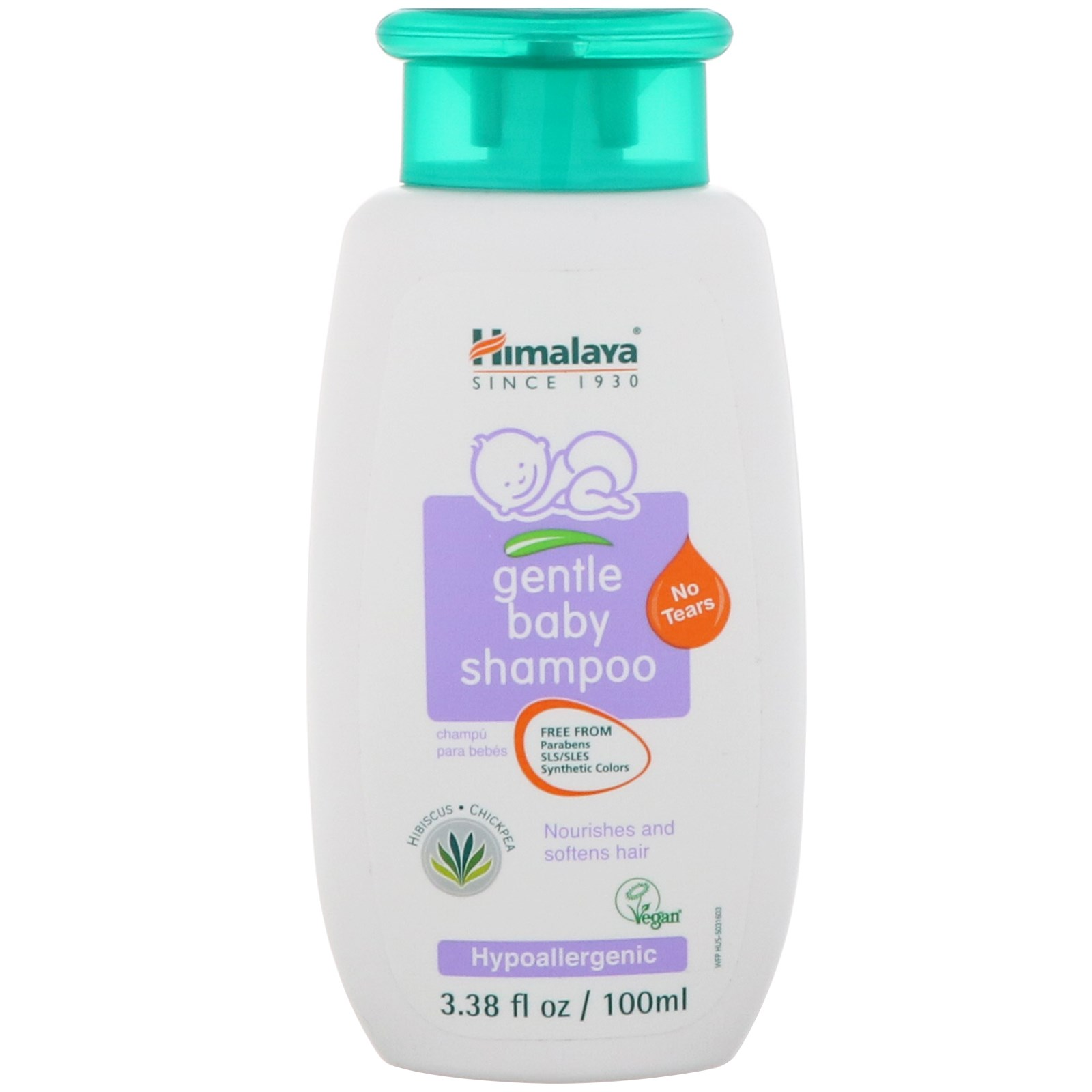 Himalaya, Gentle Baby Shampoo, 3 38 fl oz (100 ml)