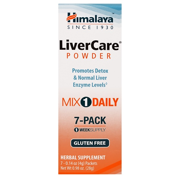 Himalaya, LiverCare Powder, 7 Packets, 0.14 oz (4 g) Each (Discontinued Item)