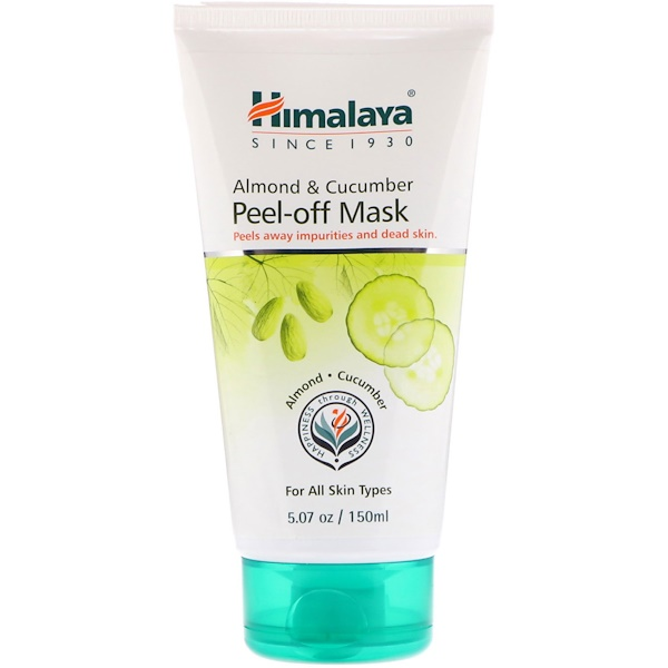 Himalaya, Almond & Cucumber Peel-off Mask, For All Skin Types, 5.07 fl oz (150 ml)