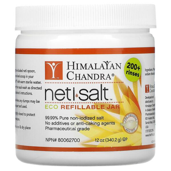 Neti Salt, Eco Refillable Jar, 12 oz (340.2 g)