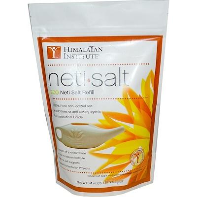 Himalayan Institute 洗鼻鹽,生態洗鼻鹽補充裝,24盎司(680.3克)