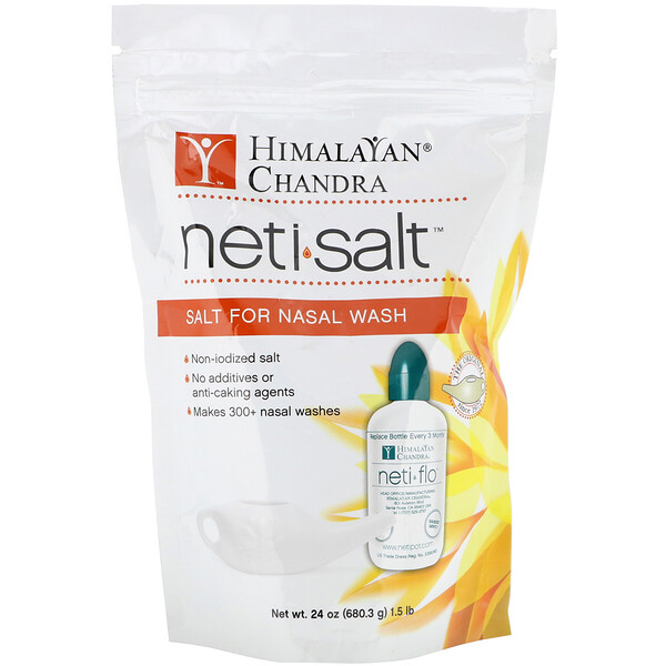 Neti Salt, Salt for Nasal Wash, 1.5 lbs (680.3 g)