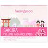 Huangjisoo, Sakura, Peeling Radiance Pads, 60 Pads, 7.76 fl oz (220 g)