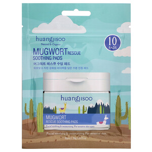 Huangjisoo, Mugwort, Rescue Soothing Pads, 10 Pads, 1.26 fl oz (36 g) отзывы покупателей