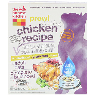The Honest Kitchen, Prowl, Grain-Free Dehydrated Cat Food, Chicken Recipe, 2 lbs (0.9 kg)