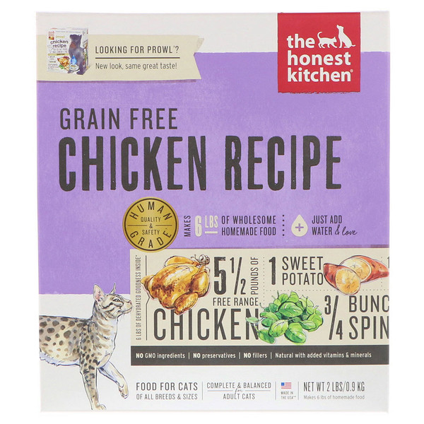 The Honest Kitchen, Grain-Free Dehydrated Cat Food, Chicken Recipe, 2 lbs (0.9 kg) (Discontinued Item)