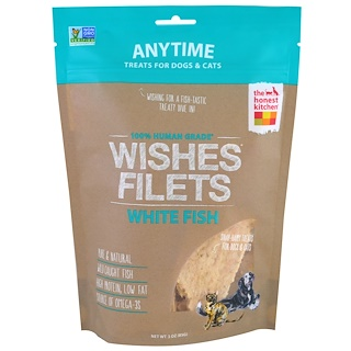 The Honest Kitchen, Wishes Filets, White Fish, For Dogs and Cats , 3 oz (85 g)