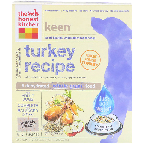 The Honest Kitchen, Keen, Dehydrated Whole Grain Dog Food, Turkey Recipe, 2 lbs (0.9 kg)