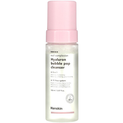 Купить Hanskin Real Complexion Hyaluron Bubble Pop Cleanser, 5.07 fl oz (150 ml)