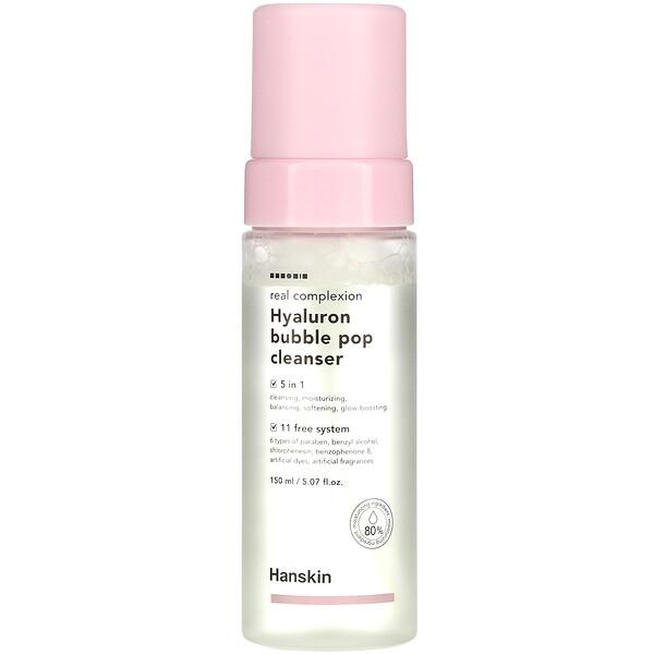 Real Complexion Hyaluron Bubble Pop Cleanser, 5.07 fl oz (150 ml)