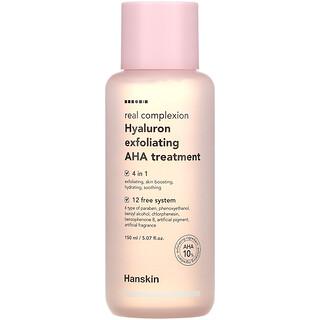 Hanskin, Real Complexion, Hyaluron Exfoliating AHA Treatment, 5.07 fl oz (150 ml)