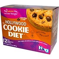 Hollywood Diet, 헐리우드 쿠키 다이어트, 초콜렛 칩, 12 식사 대용 쿠키