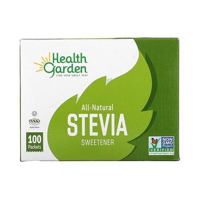 Купить Health Garden All-Natural Stevia Sweetener, 100 Packets, 1 g Each