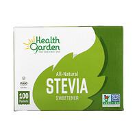 Health Garden, All-Natural Stevia Sweetener, 100 Packets, 1 g Each