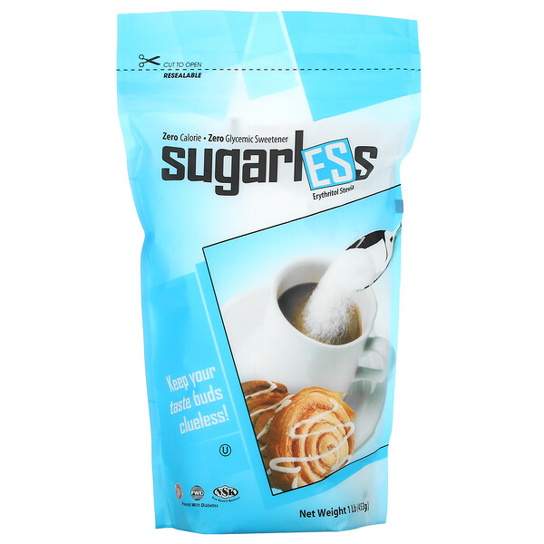 Health Garden, Sugarless, Erythritol Stevia, 1 lb (453 g)
