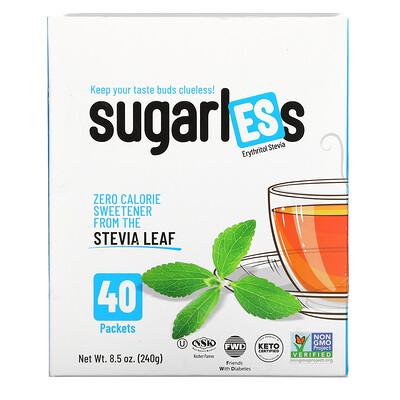 Купить Health Garden Sugarless, Erythritol Stevia, 40 Packets, 8.5 oz. (240 g)