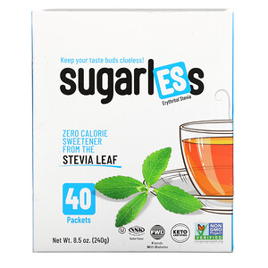 Health Garden, Sugarless,赤蘚糖醇甜葉菊,40 包,8.5 盎司(240 克)