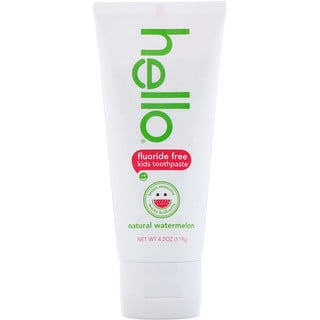 Hello, Kids, Fluoride Free Toothpaste, Watermelon, 4.2 oz (119 g)