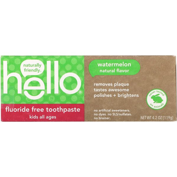Kids, Fluoride Free Toothpaste, Watermelon, 4.2 oz (119 g)