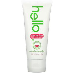 Hello, Kids, Fluoride Free Toothpaste, Watermelon, 4.2 oz (119 g) отзывы