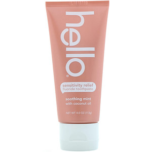 Hello, Sensitivity Relief Fluoride Toothpaste, Soothing Mint with Coconut Oil, 4 oz (113 g) отзывы покупателей
