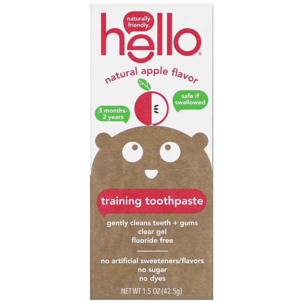 Training Toothpaste, Fluoride Free, Natural Apple Flavor, 1.5 oz (42.5 g)