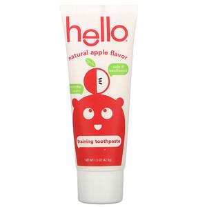 Hello, Training Toothpaste, Fluoride Free, Natural Apple Flavor, 1.5 oz (42.5 g) отзывы покупателей