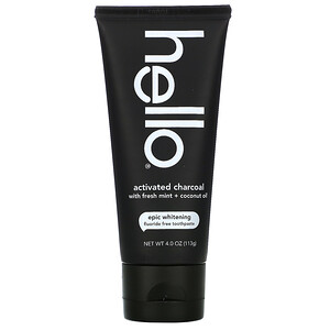 Hello, Fluoride Free Whitening Toothpaste, Activated Charcoal, With Fresh Mint & Coconut Oil, 4 oz (113 g) отзывы