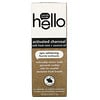 Hello, 活性炭エピックホワイトニングフッ素歯磨き粉、フレッシュミント+ココナッツオイル、113g(4.0オンス)